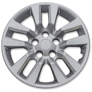 Motorup America Auto Hubcap Set of 4, 16 inch Snap On Wheel Covers – Fits 13-16 Nissan Leaf