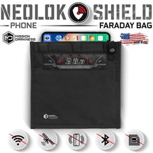 Mission Darkness NeoLok Non-Window Faraday Bag for Phones (+ Easy to Use Magnetic Closure) // Device Shielding for Law…