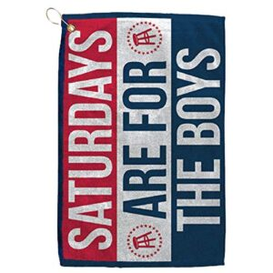 Barstool Sports Saturdays are for The Boys Golf Towel, Clip-On Accessory for Golf Bag, Perfect for Tailgating College…
