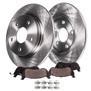 Detroit Axle – Rear 302mm Disc Brake Kit Rotors w/Ceramic Pads for 2013 – 2016 Ford Fusion Except Energi Model – [2017…