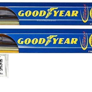 Hybrid – Windshield Wiper Blade Set/Kit/Bundle for 2013-2019 Lincoln MKZ – Driver & Passenger Blades & Reminder Sticker