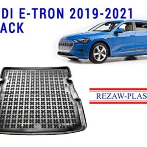 Rezaw-Plast Cargo Mat for 2019-2021 Audi E-tron SUV Black Color All Weather Tray Liner Trunk Mat SUV Accessories