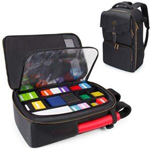 ENHANCE MTG Backpack Playing Card Case – Card Game Backpack Card Holder for Deck Boxes, Sleeved Cards, Large Playmats…