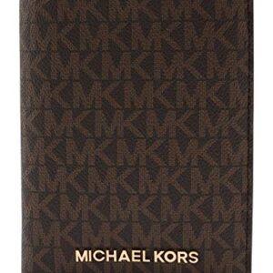 Michael Kors Jet Set Travel Passport Holder Wallet Case PVC 2019 (Brown PVC)