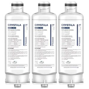 Crystala Filters Replacement for DA97-17376B Water Filter, NSF 42 Compatible with Samsung HAF-QIN, HAF-QIN/EXP, DA97…