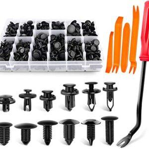 GOOACC 240PCS Bumper Retainer Clips Car Plastic Rivets Fasteners Push Retainer Kit Most Popular Sizes Auto Push Pin…
