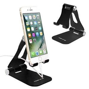 Cell Phone Stand, YOSHINE Upgraded Phone Stand for Desk, Adjustable Tablet Stand, Foldable Portable Aluminum Phone…