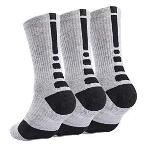 Elite Basketball Sock Cushion Athletic Long Sports Outdoor Socks Dri-fit Compression Sock for Boy Girl Men Women 6.5-11…