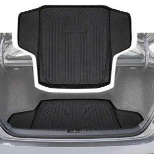 CUMART Rear Cargo Mat Trunk Liner Floor Mat Waterproof Protector Compatible with 2018 2019 Honda Accord Sedan,Sport…