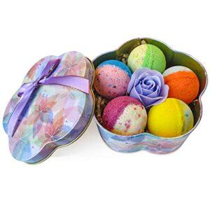 5+1 Bath Bombs Gift Set, 100% Handmade Pure Essential Oil Bath Bombs, Fizzy Spa for Moisturing Skin, Best Gift Choice…