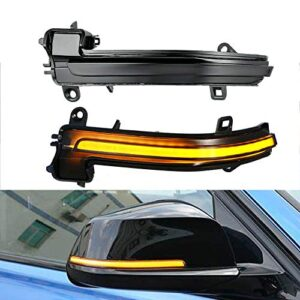 GSRECY Smoked Lens Dynamic Sequential Blink LED Side Marker Rearview Mirror Turn Signal Light For BMW 1 2 3 4 Series F20…
