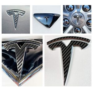 Custom Cut Graphics Logo Decal Wrap for Tesla Model X, 14-pc Set (Brushed Black)