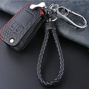 Car Key Cover for Buick Opel Vauxhall for Astra J Corsa E Insignia Zafira C Encore Envision Leather Car Key Case Cover…