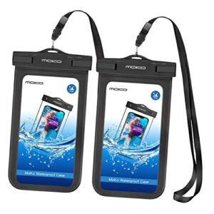 MoKo Waterproof Phone Pouch [2 Pack], Underwater Cellphone Case Dry Bag with Lanyard Armband Compatible with iPhone 12…