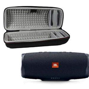 JBL Charge 4 Waterproof Wireless Bluetooth Speaker Bundle with Portable Hard Case – Black