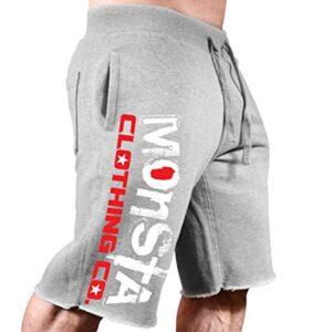 Monsta Clothing Co. Men's Bodybuilding Workout (Signature Monsta) Sweat Shorts