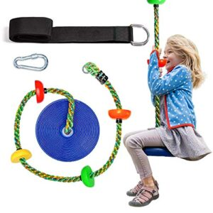 OXYVAN Tree Swing Kids Swing Climbing Rope for Kids with Platforms and Disc Swing Seat-Swingset Accessories Outdoor…