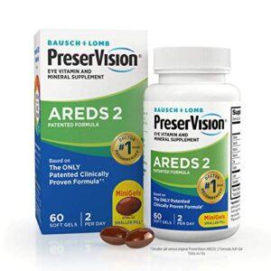 PreserVision AREDS 2 Eye Vitamin & Mineral Supplement, Contains Lutein, Vitamin C, Zeaxanthin, Zinc & Vitamin E, 60 Mini…