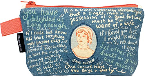 Jane Austen Bag – 9″ Zipper Pouch for Pencils, Tools, Cosmetics and More