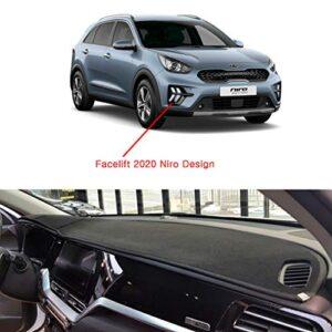 Aoneparts Non-Slip Dash Covers Black for 2020 KIA NIRO Hybrid & Plug-in Hybrid
