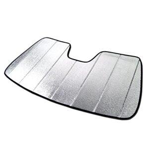 Tuningpros SS-422 Custom Fit Car Windshield Sun Shade Protector, Sunshade Visor Silver & Grey 1-pc Set Compatible With…