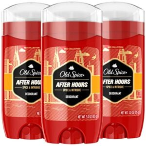 Old Spice Red Collection After Hours Scent Deodorant for Men, 3.0 oz, Pack of 3