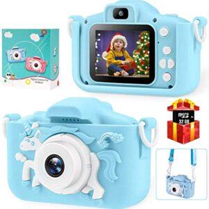 Bosszi Kids Digital Camera Mini Camcorder for Boys and Girls Age 3-10   2'' Digital Dual Camera   20.0MP HD Video…