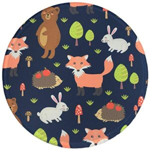 Mouse Pad, Personalized Round Mouse Mat, Small Circular Mouse Pad with Animal Design, Anti-Slip Rubber Mousepad with…