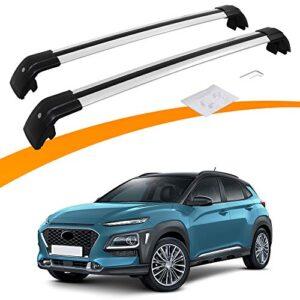 Snailfly Adjustable Roof Rack Cross Bars Fit for Hyundai KONA 2018-2021 Silver Luggage Racks