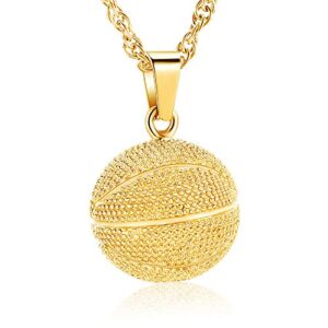 Basketball Cremation Jewelry Urn Necklaces for Ashes for Women Men,Cremation Urn Keepsake Memorial Pendant Jewelry for…