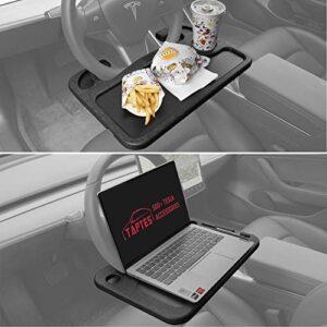 TAPTES Car Steering Wheel Desk for Tesla Model 3 Model Y X S 2017-2021,Tesla Accessories for Food Eating, Universal Car…