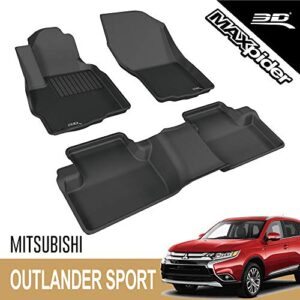 3D MAXpider – L1MT03601509 Mitsubishi Outlander Sport 2011-2019 Custome Fit All-Weather Car Floor Mats Liners, Kagu…