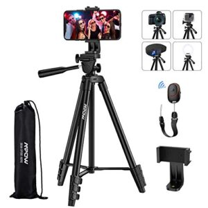 Phone Tripod, Mpow Extendable Aluminum Selfie Stick Tripod Stand with 360° Rotatable Phone Holder & Bluetooth 5.0 Remote…