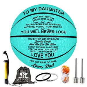 K KENON Customized Engraved Basketball Personalized Basketball for Daughter Son Granddaughter Wife Husband Birthday You…